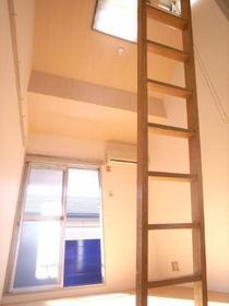 階段の上にはロフト完備