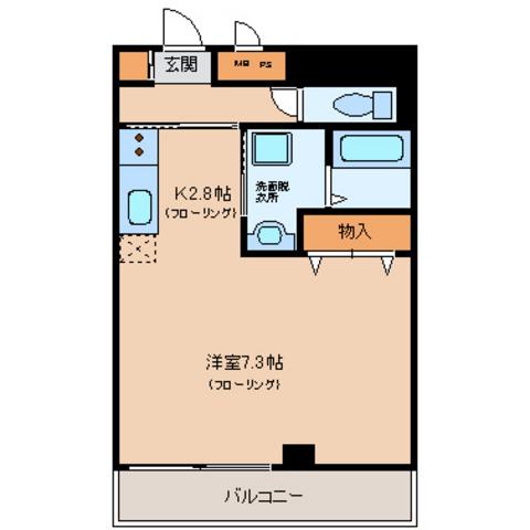 洋室7.3 キッチン2.8
