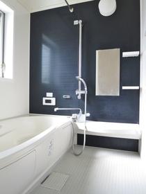 お風呂には鏡や棚もあります