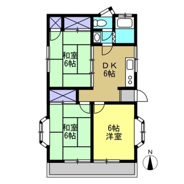 DK6帖、和室6帖、洋室6帖、和室6帖