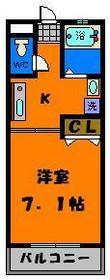 広々洋室7.1帖!当然バス・トイレ独立です!