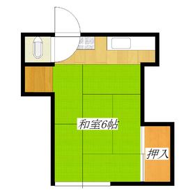 6帖のお部屋に2口コンロ設置可のキッチン!収納も付いて3万円台は魅力です♪