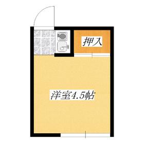 居室4.5帖の洋室カーペットでございます。