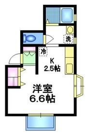 デュークパレス2階Fの間取り画像