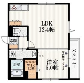 (仮称)武蔵台3丁目メゾン3階Fの間取り画像