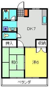 上星川駅 徒歩15分2階Fの間取り画像