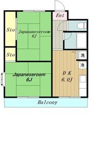 クレドボヌール3階Fの間取り画像