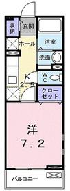 イシヅカヒルズ1階Fの間取り画像