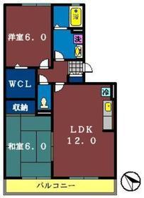 ノーブルヒル3階Fの間取り画像