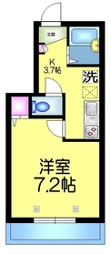 メゾンコンフォール2階Fの間取り画像