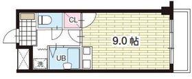 ミラクルイン横浜3階Fの間取り画像