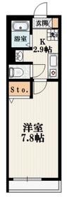 ヴァンテアン・ノール2階Fの間取り画像