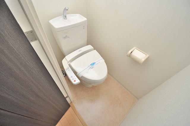 CASSIA高井田NorthCourt 白くてピカピカのトイレですね。癒しの空間になりそう。