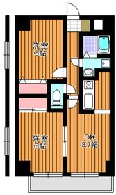 三高ツインタワーサウス9階Fの間取り画像