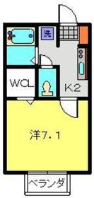 メゾンツルオカ3階Fの間取り画像
