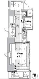 メイクスデザイン神楽坂6階Fの間取り画像
