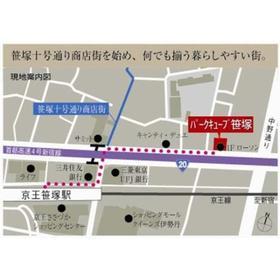 パークキューブ笹塚案内図