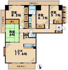 はるひ野駅 徒歩23分6階Fの間取り画像