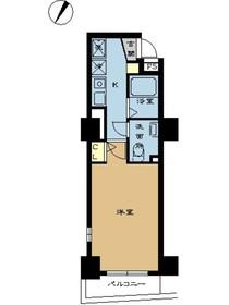 スカイコート三越前壱番館11階Fの間取り画像