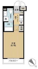 グリフィン横浜・反町公園7階Fの間取り画像