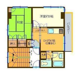 シャトー蒔田3階Fの間取り画像