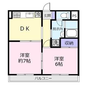 ウイング上福岡5階Fの間取り画像