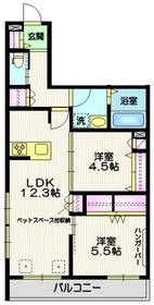 (仮称)世田谷区・給田5丁目メゾン2階Fの間取り画像