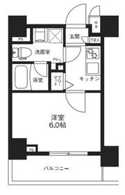 メインステージ横濱ポートサイド5階Fの間取り画像