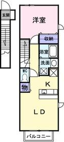 南林間駅 バス14分「工機入口」徒歩4分2階Fの間取り画像