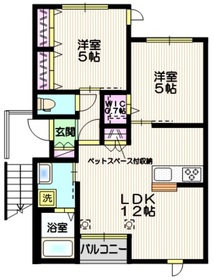 Avenir 上福岡2階Fの間取り画像