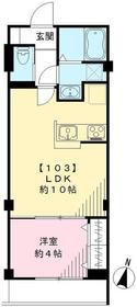 セント エバリュード スクエア1階Fの間取り画像