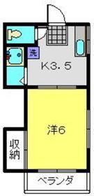 第3鈴木コーポ2階Fの間取り画像
