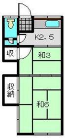 大塚荘1階Fの間取り画像