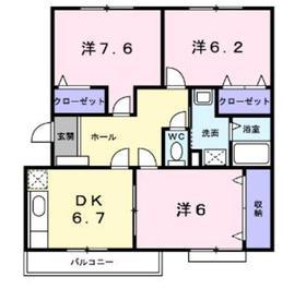 グランディール212階Fの間取り画像