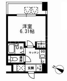神田駅 徒歩10分9階Fの間取り画像