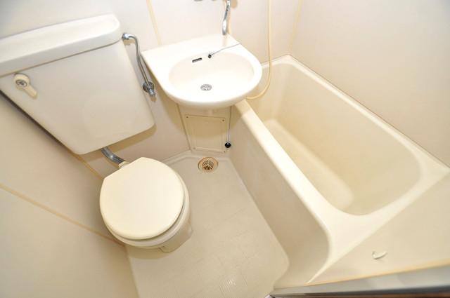 コルナス八戸ノ里 ちょうどいいサイズのお風呂です。お掃除も楽にできますよ。