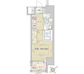 レビスタ白金高輪6階Fの間取り画像