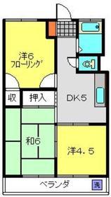 ニュー小机マンション2階Fの間取り画像
