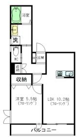 YKN3階Fの間取り画像