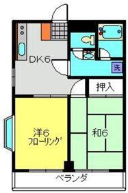 鷺沼コーポ2階Fの間取り画像