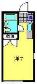 マーサ藤棚2階Fの間取り画像