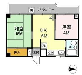 金子マンション2階Fの間取り画像
