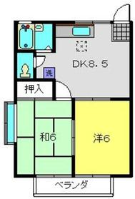 マリンブルーハイツⅡ2階Fの間取り画像