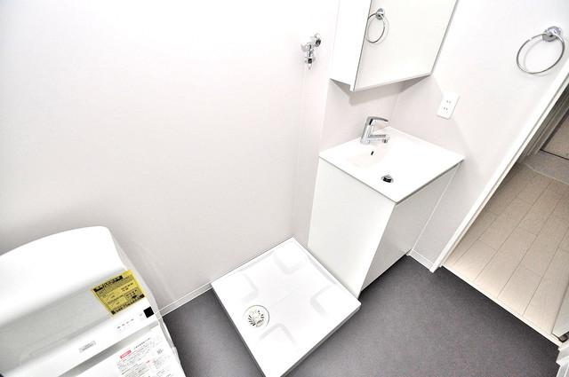 K' ヴィラ(ケーズ ヴィラ) 洗濯機置場が室内にあると本当に助かりますよね。