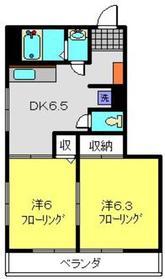 佐々木第2マンション2階Fの間取り画像