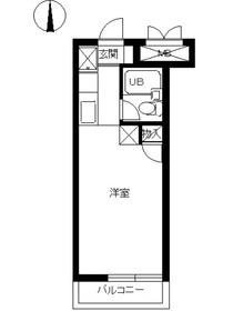 スカイコート鶴見31階Fの間取り画像