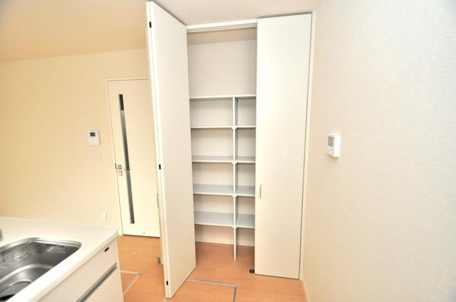 シャーメゾンアマヤハイツ キッチン棚も付いていて食器収納も困りませんね。