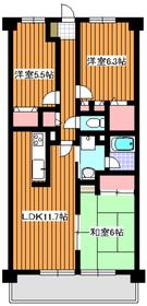 エディフィシオ赤塚2階Fの間取り画像