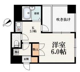 新江古田駅 徒歩7分5階Fの間取り画像