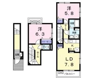 ミニョン2階Fの間取り画像